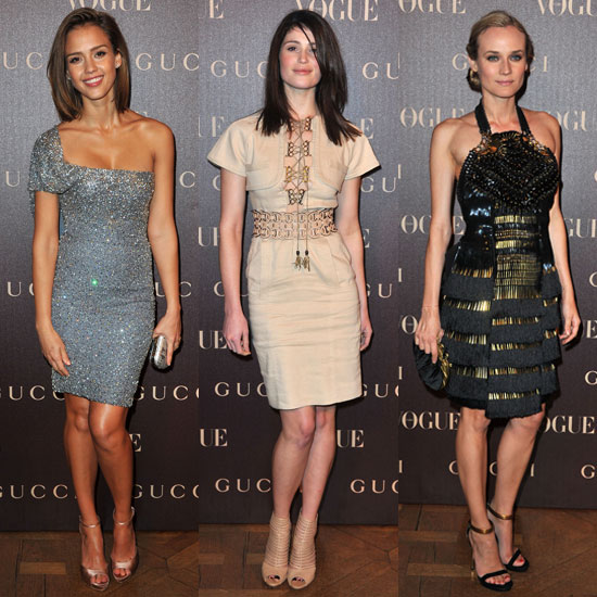 Pictures of Jessica Alba, Gemma Arterton, and Diane Kruger at Vogue Gucci Dinner in Paris