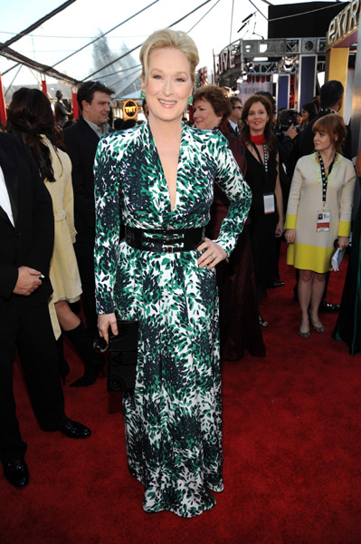 Meryl Streep was color-injected and totally chic in 2008.