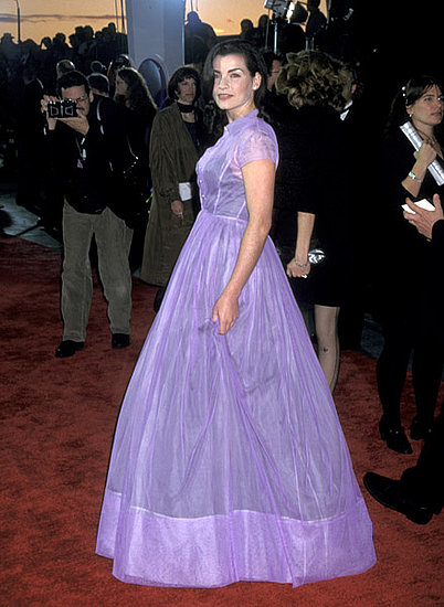 Julianna Margulies channeled a fairy-tale look in lilac in 1996.