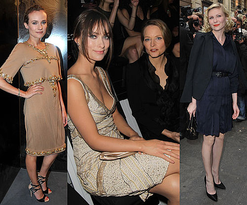 Front Row Celebrities at 2011 Spring Couture Fashion Week Including Diane Kruger, Alexa Chung, Olivia Wilde
