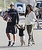 Pictures of Matthew McConaughey and Camila Alves With Levi and Vida on the Beach in Malibu