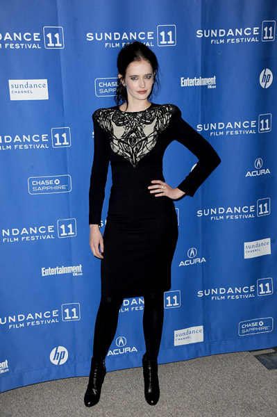 I love that Eva Green got totally vampy at Sundance.