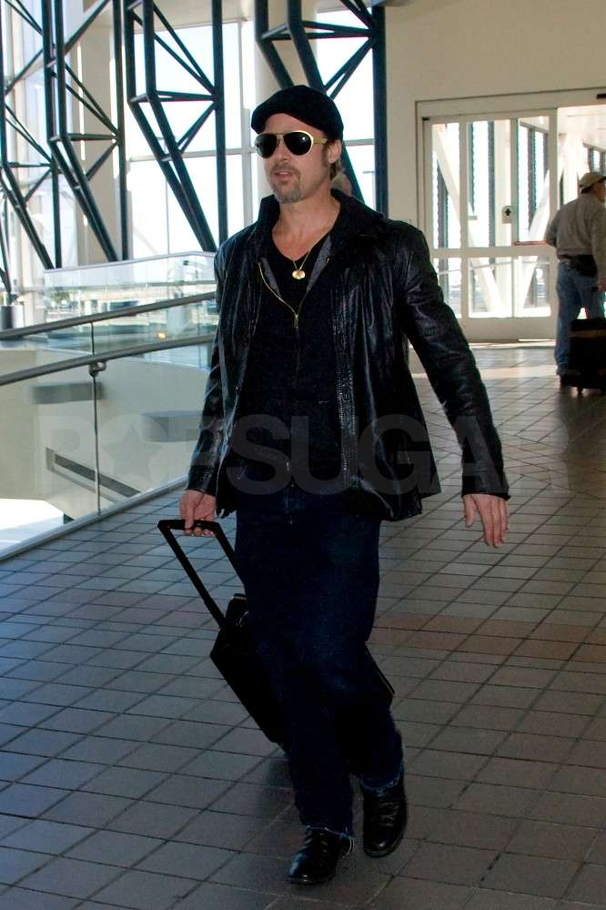 Brad Pitt Takes His Sexy Self Out of Town