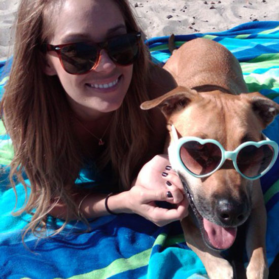Lauren and her dog Chloe sported fancy shades while lounging at the beach.  Source: Twitter user laurenconrad