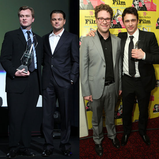 Pictures of Christoper Nolan, Leonardo DiCaprio, and James Franco at the 2011 Santa Barbara Film Festival