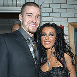 Christina Aguilera met up with her fellow Mouseketeer Justin Timberlake during the August 2003 MTV VMAs in NYC.