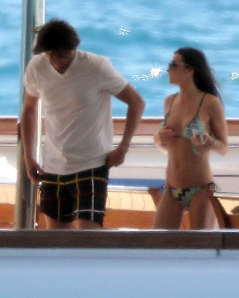 Demi Moore Keeps Her Bikini Strings Attached While NYE Yachting With Ashton
