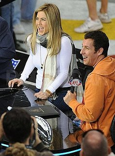 Pictures of Jennifer Aniston at the Super Bowl