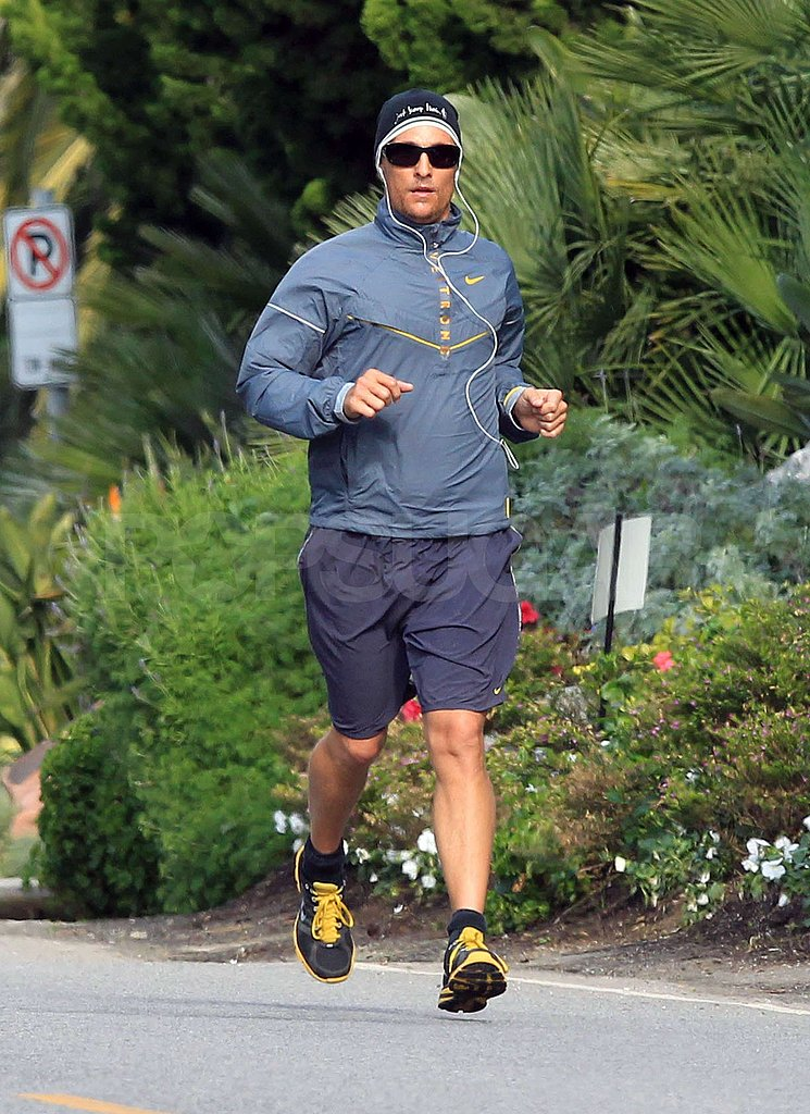 Matthew McConaughey Keeps Up His Fitness in Malibu