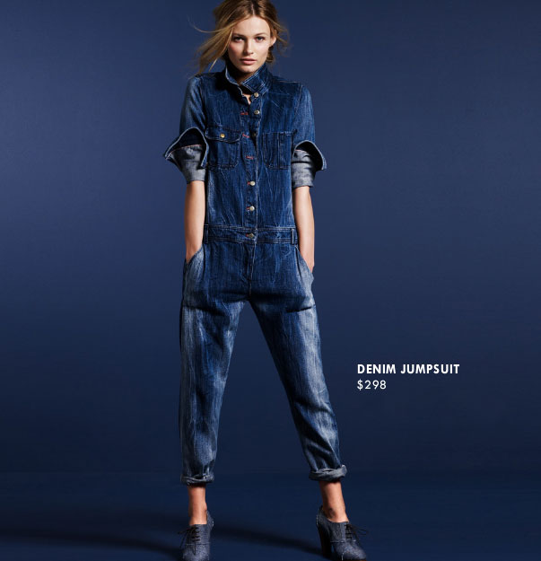 Skip: The Denim Jumpsuit ($298)  Why: That's a costly piece of denim, and one you're not likely to wear season after season. It's completely trend driven, and, unless you adhere to a strict denim-on-denim uniform, I'd say forgo this buy and invest in a great pair of jeans.