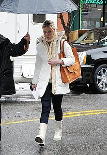 Pictures of Katherine Heigl on the NYC Set of New Year's Eve