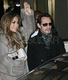 J Lo Has Marc by Her Side to End a Long Day of Legging Around NYC