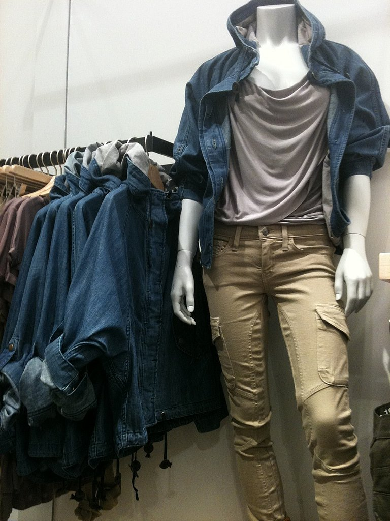 Skinny cargoes and a relaxed denim jacket were highlights.