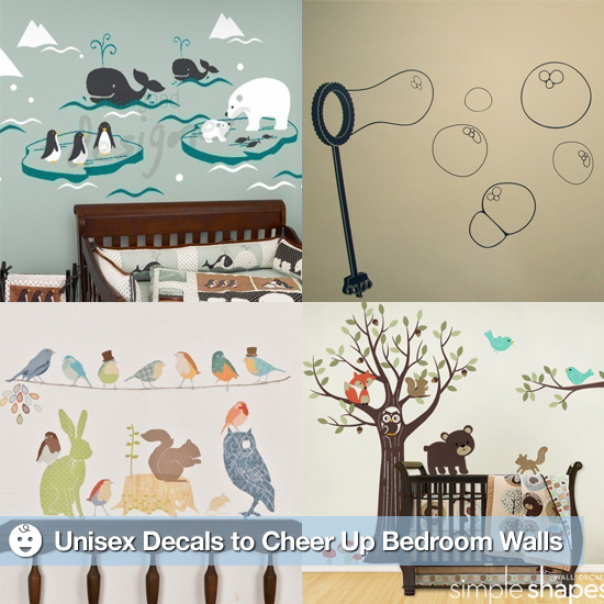 Unisex Decals Cheer Up Drab Bedroom Walls
