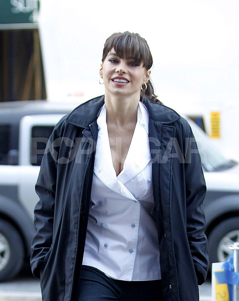 Sofia Vergara Bangs Out Her First Day on the New Year's Eve Set