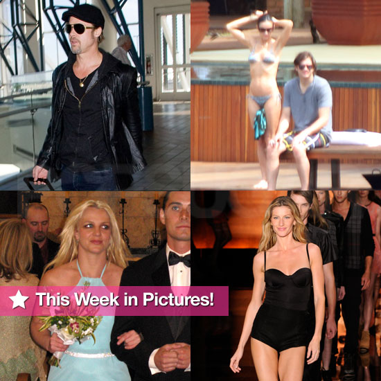 Brad Pitt in Leather, Britney Spears at a Wedding, and More in PopSugar's Week in Photos