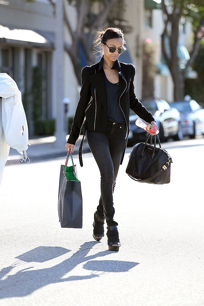 Zoe Saldana Maintains Her Hot Status on a Shopping Trip