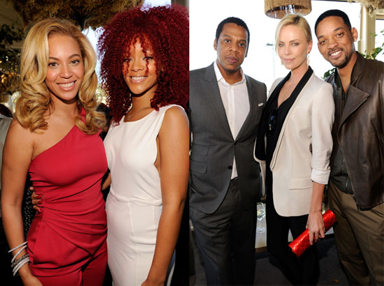 Beyonce and Jay-Z Kick Off the Grammys Fun With Rihanna, Will, and More