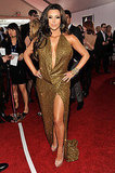 Kim Kardashian Goes Bold in Low-Cut Gold at the Grammys