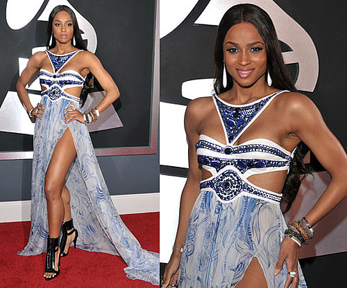 Ciara in Emilio Pucci at the Grammys 2011
