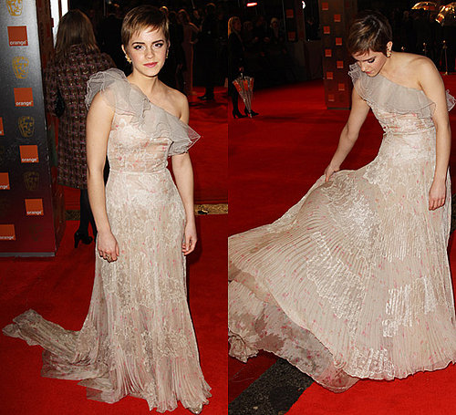 Photos of Emma Watson in Valentino at the 2011 BAFTA Awards