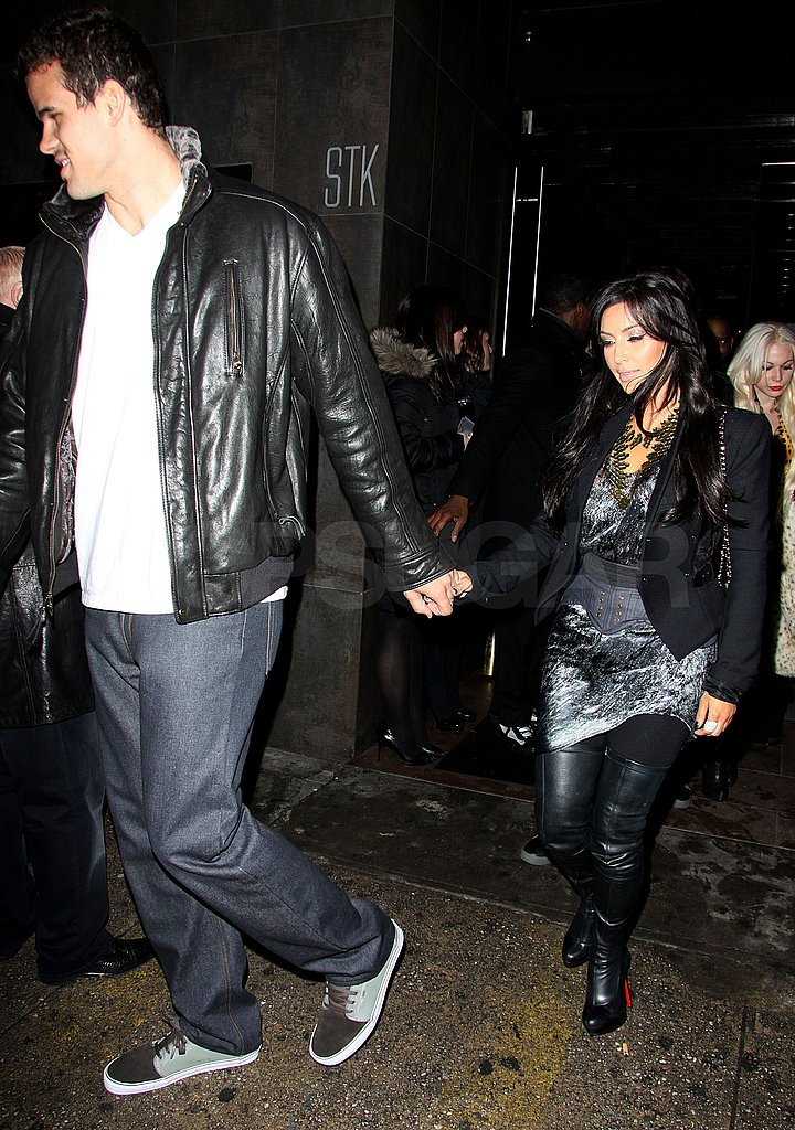 Pictures of Kim Kardashian and Kris Humphries Leaving STK in NYC