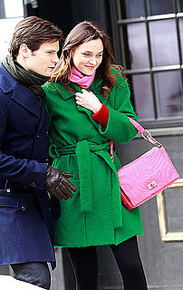 Pictures of Leighton Meester and Blake Lively Shooting Gossip Girl in NYC