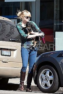 Pictures of Emma Stone With Dog in LA