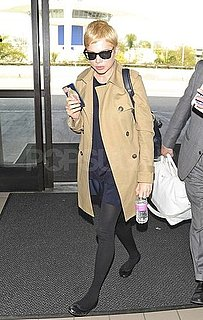 Pictures of Michelle Williams Departing Out of LAX