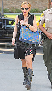 Pictures of Lindsay Lohan Going to Court