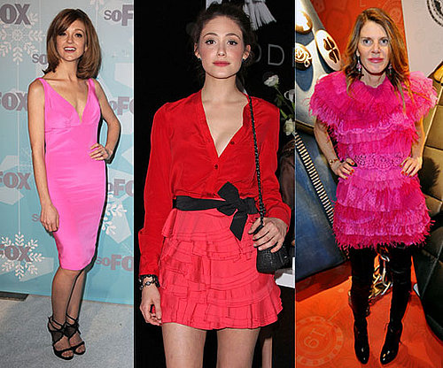 Valentine's Day Style from celebrities including Emmy Rossum, Gwyneth Paltrow and Anna Dello Russo