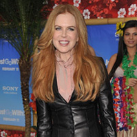 Photos of Nicole Kidman at Just Go With It Premiere in Leather Suit by L'Wren Scott