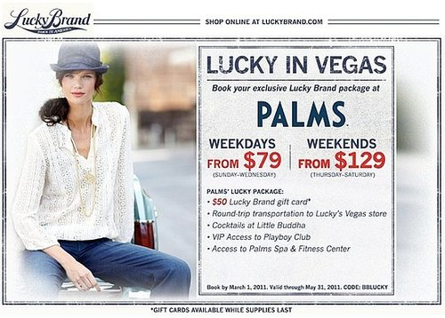 Lucky Jeans and The Palms Resort Partner For Deals!