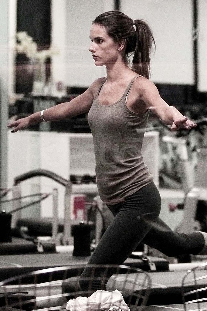 Alessandra Ambrosio Models Her Hot Body and Pilates Balance