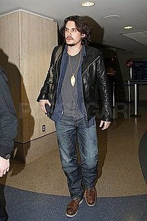Pictures of John Mayer and His Bushy Beard Arriving at LAX
