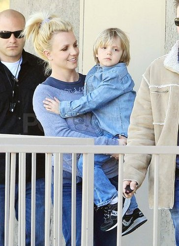 Pictures of Britney Spears With Jayden James at Karate