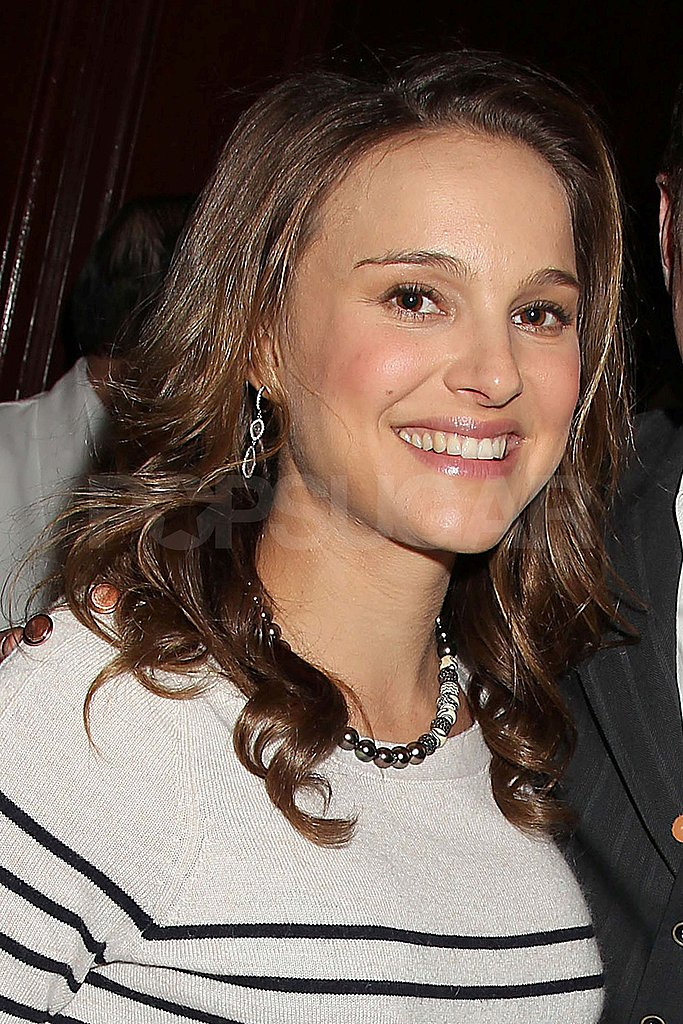 Natalie Portman Wears Stripes to Toast Her Black Swan Director