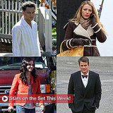 Pictures of Leonardo DiCaprio, Blake Lively, and Courteney Cox on Set