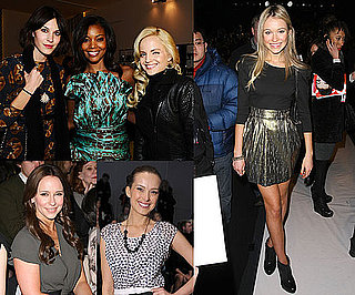 Front Row Celebrities at 2011 Fall New York Fashion Week Including Alexa Chung, Jennifer Love Hewitt
