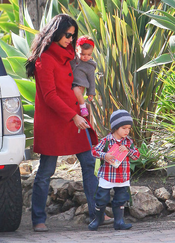 Pictures of Camila Alves, Levi McConaughey, and Vida McConaughey on Valentine's Day