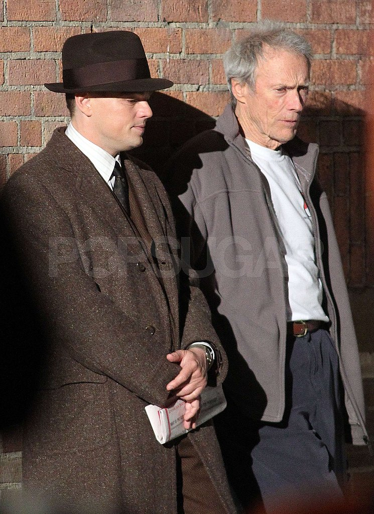 Pictures of Leonardo DiCaprio and Clint Eastwood Filming J. Edgar in Downtown LA