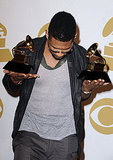 Usher, Justin, John, and Matt Celebrate in the Grammys Press Room
