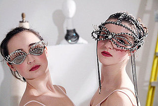 Erickson Beamon Rhinestone Eye Masks For Fall 2011