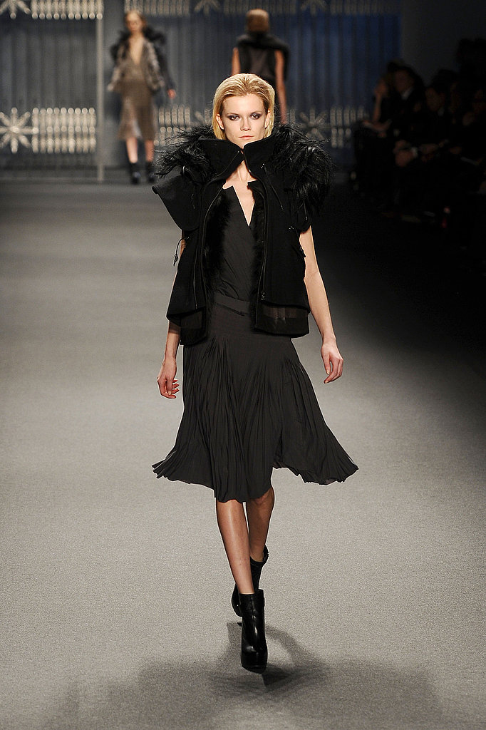 Vera Wang Focuses On Romantic Pleats and Fur-Lined Parkas For Fall 2011