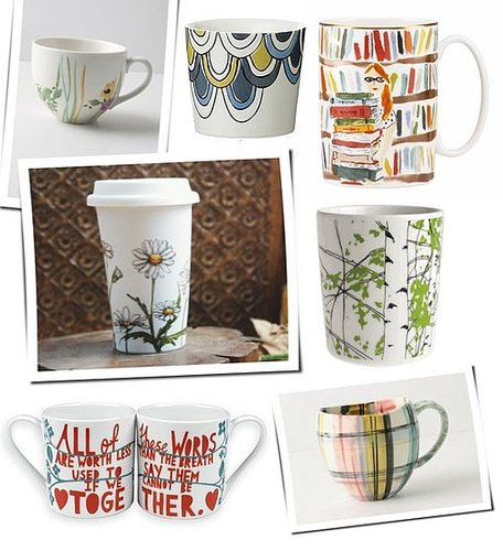 Shopping For Artsy, Handpainted Coffee Mugs