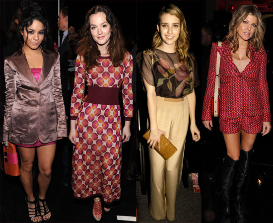 Pictures of Celebrities Including Christina Hendricks, Vanessa Hudgens, and Kelly Osbourne at New York Fashion Week