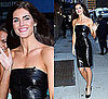 Photo of Hilary Rhoda in Strapless Mini Dress in Cold New York
