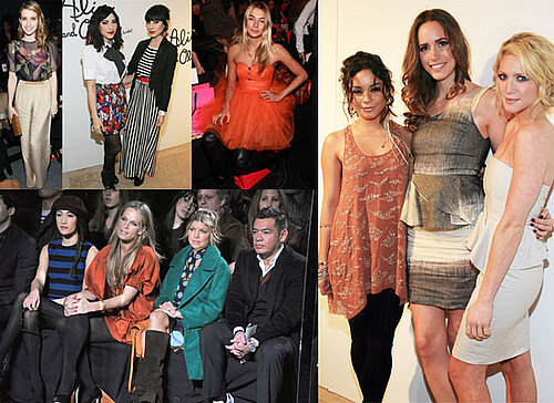 See the celeb front row from 2011 Fall New York Fashion Week, including Vanessa Hudgens, Anna Wintour and Grace Coddington