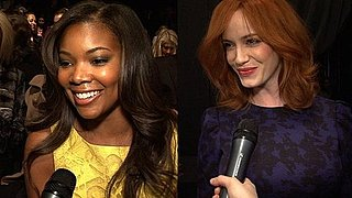Christina Hendricks and Gabrielle Union Backstage at Carolina Herrera