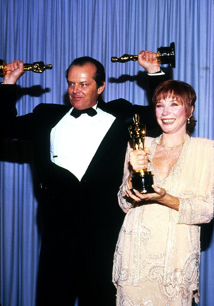 Jack Nicholson and Shirley MacLaine, 1984.